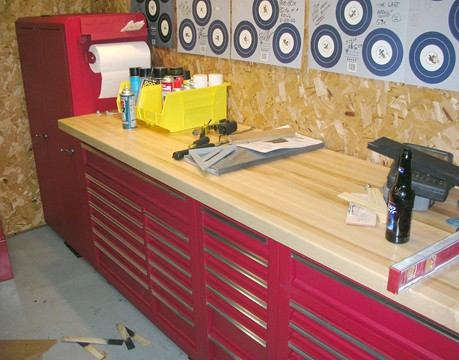 harbor freight tool box bench. i waited until my local woodcraft store had their 1-3/4\ harbor freight tool box bench o